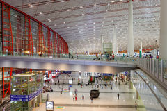 Terminal 3 av Pekinghuvudstadflygplatsen Royaltyfria Foton