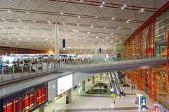 Terminal 3 av Pekinghuvudstadflygplatsen Arkivbild