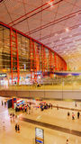 Terminal 3 of Beijing Capital International Airport. The Beijing Capital International Airport Terminal 3, building area of more than 90 million square meters royalty free stock photography
