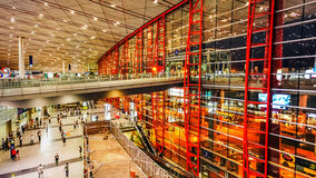 Terminal 3 of Beijing Capital International Airport. The Beijing Capital International Airport Terminal 3, building area of more than 90 million square meters Royalty Free Stock Images