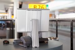 Terminal on boarding gate Stock Images