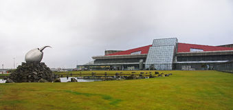 The terminal building of the airport in Keflavik Royalty Free Stock Photography