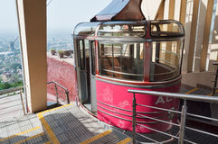 Terminal of  cable car line on Kok-Tobe Mountain in Almaty Stock Photography