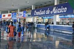 Terminal Central del Norte, Mexico-City Stock Afbeelding