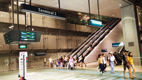 Terminal in Changi Airport Singapore Royalty Free Stock Photography