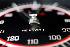 Terminal clock. New York terminal clock on black. New York travel destination stock images