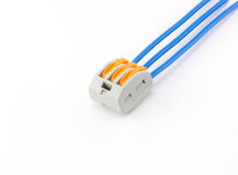 Terminal connector wires Royalty Free Stock Image