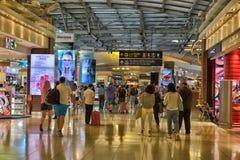 Terminal d'aéroport à l'aéroport de Suvarnabhumi Photos libres de droits