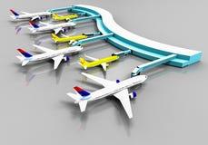 Terminal d'aéroport illustration stock