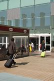 Terminal d'aéroport de Barcelone. Espagne Photographie stock