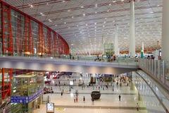 Terminal 3 d'aéroport de capital de Pékin Photos libres de droits