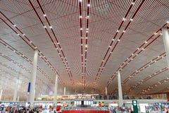 Terminal 3 d'aéroport de capital de Pékin Photographie stock libre de droits