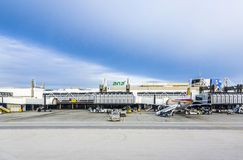 Terminal d'aéroport de Lisbonne Images stock