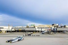 Terminal d'aéroport de Lisbonne Photographie stock