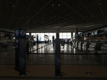 Terminal d'aéroport de Narita 1 pendant le matin Photographie stock