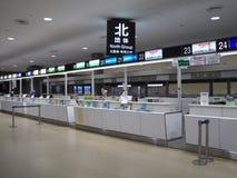 Terminal d'aéroport de Narita 2 tôt le matin Images stock