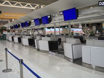 Terminal d'aéroport de Narita 2 tôt le matin Photos stock