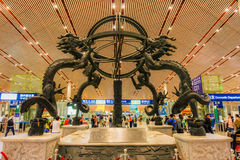 Terminal 3 d'aéroport international capital de Pékin Image stock