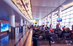 Terminal d'aéroport international de Sheremetyevo Image libre de droits