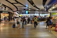 Terminal d'aéroport international occupé Heathrow Images libres de droits