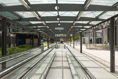 Terminal d'aéroport Stuttgart (Allemagne) Photographie stock