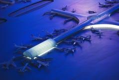 Terminal d'aéroport Photographie stock