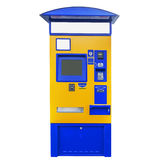 Terminal d'autobus, de tram et de train pour l'achat des billets d'isolement Images libres de droits