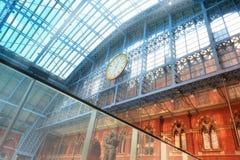 Terminal d'Eurostar à la station des Rois Cross Saint-Pancras à Londres Image stock