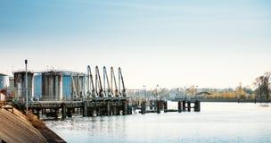 Terminal d'exportation de pétrole Images stock