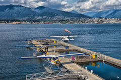 Terminal d'hydravion de centre de vol de port de Vancouver Image stock