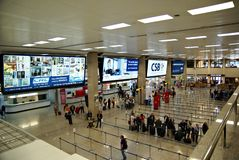 Terminal d'International d'aéroport de Malte Photographie stock