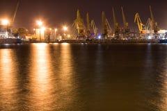 Terminal da carga do porto Odessa fotos de stock royalty free