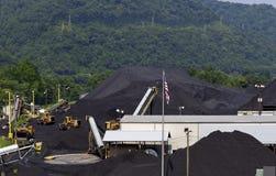 Terminal da companhia de carvão de West Virginia foto de stock