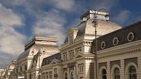 Terminal da estrada de ferro de Paveletsky-- é um dos nove terminais railway dentro em Moscou, Rússia vídeos de arquivo