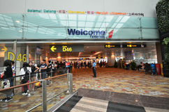 Terminal 1 dans l'aéroport de Changi, Singapour Image libre de droits