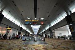Terminal 1 dans l'aéroport de Changi, Singapour Photographie stock
