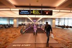 Terminal 1 dans l'aéroport de Changi, Singapour Photographie stock libre de droits