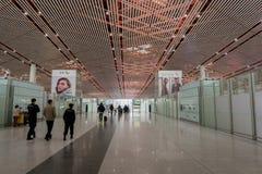 Terminal dans l'aéroport international capital de Pékin en Chine Photographie stock libre de droits