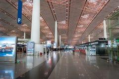 Terminal dans l'aéroport international capital de Pékin en Chine Photo stock