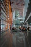 Terminal dans l'aéroport international capital de Pékin en Chine Photo libre de droits