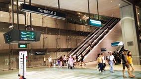 Terminal dans l'aéroport Singapour de Changi Photographie stock libre de droits