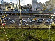 Terminal de ônibus da avenida e do Dom Pedro II de Estado imagens de stock royalty free
