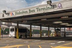 Terminal de ônibus de Hoboken fotografia de stock