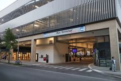 Terminal de ônibus de Leipzig Foto de Stock