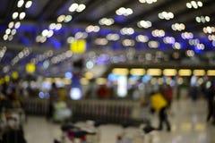 Terminal de aeroporto do borrão Imagem de Stock Royalty Free