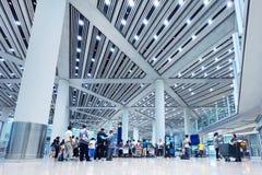 Terminal de aeroporto principal 3 do Pequim da reivindicação de bagagem Foto de Stock