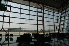 Terminal de aeropuerto internacional capital de Pekín fotos de archivo libres de regalías