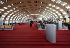 Terminal de Air France em Charles de Gaulle International Airport Foto de Stock