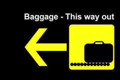 Terminal de bagages de compagnie aérienne Image libre de droits