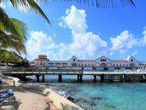 Terminal de bateau de croisière dans Cozumel, Mexique images libres de droits